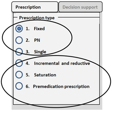 Drug prescription user interface